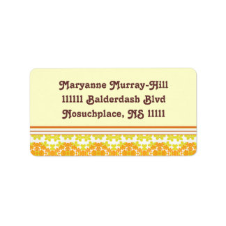 A Touch of Spring Orange Daisy Chain Address Label