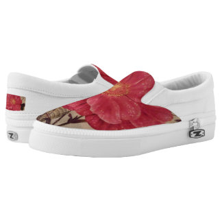 "A Touch Of Spring"" Zipz Slip-On Shoes/ US Women"