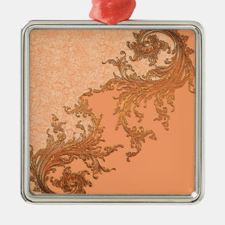 A touch of vintage in soft colors metal ornament