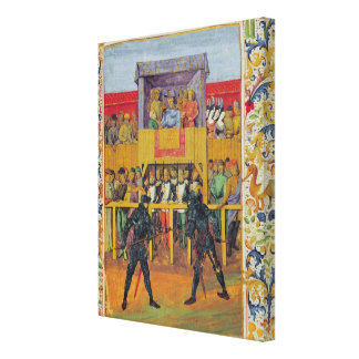 A Tournament of Hand-to-Hand Combat Canvas Print