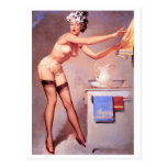 A Towel Please Pin Up Postcard