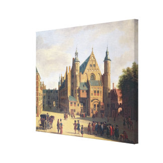 A Town Square in Haarlem Canvas Print