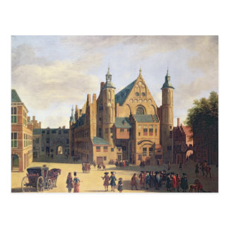 A Town Square in Haarlem Postcard