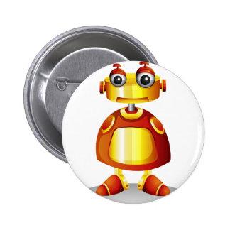 A toy robot 2 inch round button