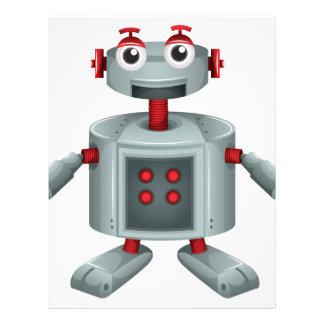 A toy robot letterhead