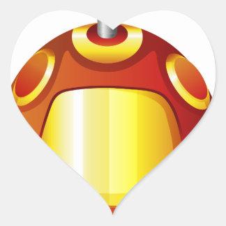 A toy robot heart sticker
