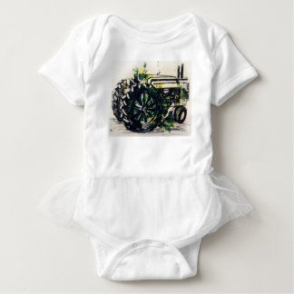A Tractor! Baby Bodysuit