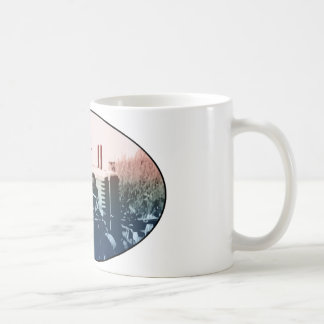 A tractor coffee mug