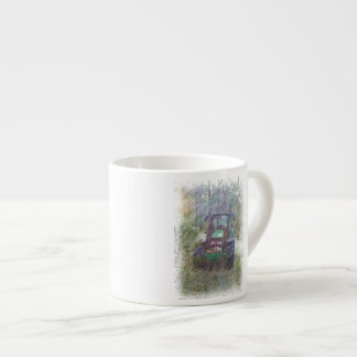 A tractor in the forest espresso cup