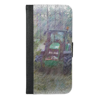 A tractor in the forest iPhone 6/6s plus wallet case