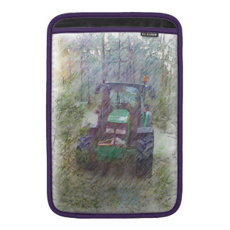 A tractor in the forest MacBook air sleeves