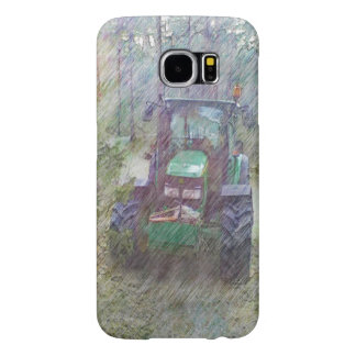 A tractor in the forest samsung galaxy s6 case