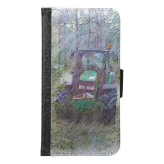 A tractor in the forest samsung galaxy s6 wallet case