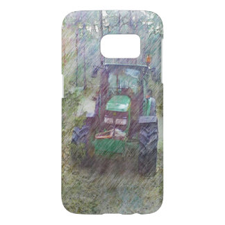 A tractor in the forest samsung galaxy s7 case
