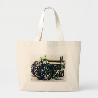 A Tractor! Large Tote Bag