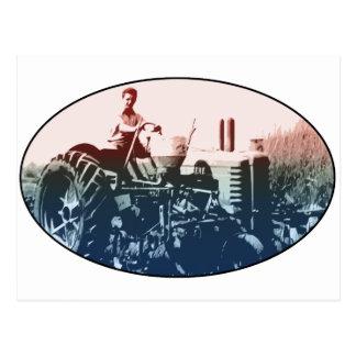 A tractor postcard