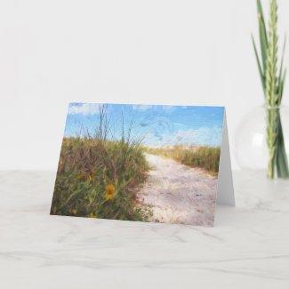 A Trail To The Beach Card