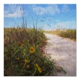 A Trail to the Beach Poster
