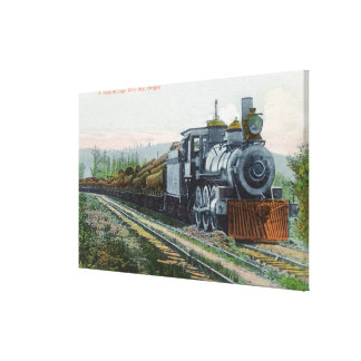 A Train of LogsCoos Bay, OR Canvas Print