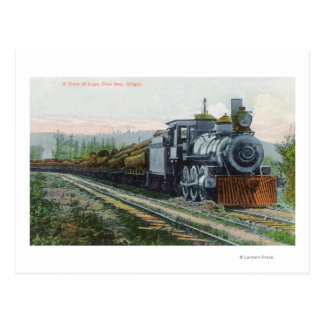 A Train of LogsCoos Bay, OR Postcard