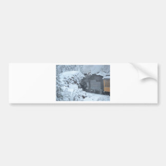 A Train Ride Through a Winter Wonderland Bumper Stickers