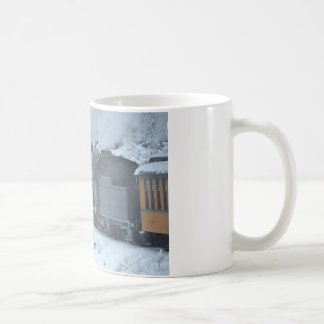 A Train Ride Through a Winter Wonderland Coffee Mug