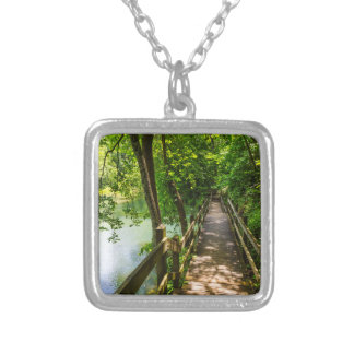 A Tranquil Hike Silver Plated Necklace