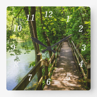 A Tranquil Hike Square Wall Clock