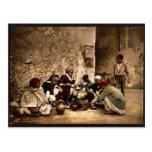 A traveling cook, Kairwan, Tunisia classic Photoch Postcards