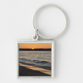 A Traverse Sunset Keychain