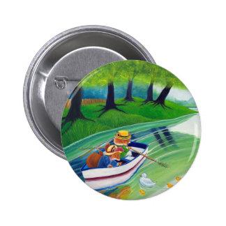 """""""A través botones del río"""" Pin"""