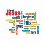A través de Jesús, usted es… Tarjeta Postal