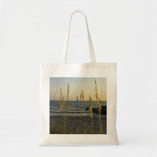 A través de la avena del mar bolsa tela barata