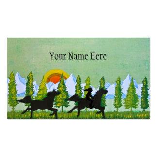 A través de la pradera tarjeta personal