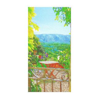 A través de la puerta de jardín impresiones en lona estiradas