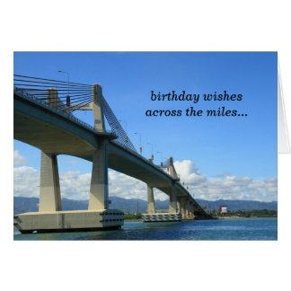 A través de la tarjeta de cumpleaños de las millas