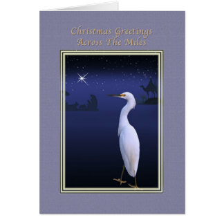A través de la tarjeta de Navidad de las millas co