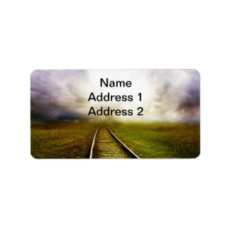 A través de las millas etiqueta de dirección