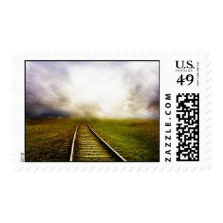 A través de las millas sello postal