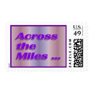a través de las millas timbre postal