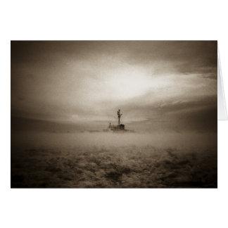A través de las nieblas, a través del hielo tarjeta de felicitación