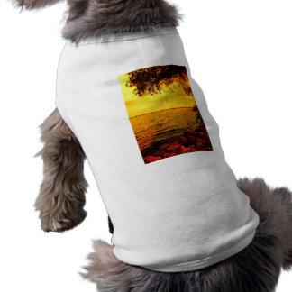 A través de las orillas camisa de perro