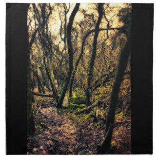 A través de las servilletas salvajes de maderas