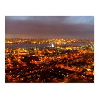 A través de Liverpool al río Mersey y Wirral Tarjeta Postal