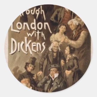 A través de Londres con Dickens, 'Frank Oakes Rose Pegatina Redonda