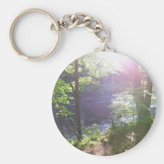 A través de los árboles llavero personalizado