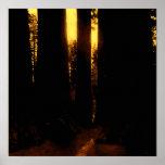 A través de los árboles poster