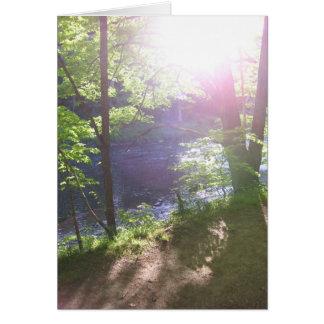 A través de los árboles tarjeta de felicitación
