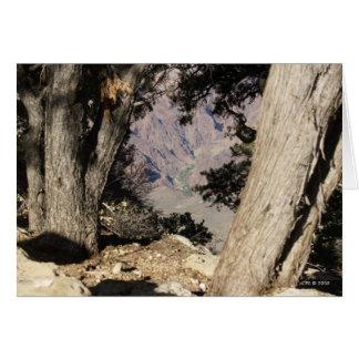 A través de los árboles tarjeta pequeña