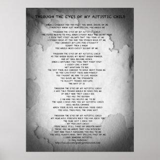 A través de los ojos de mi niño autístico (poster)